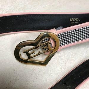 VINTAGE ESCADA Belt Pink & Black